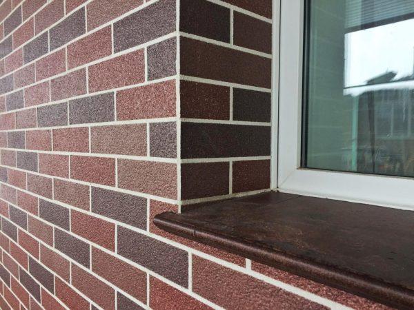 фасад АМК 300 коричневый микс